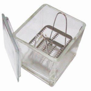 Caja Coplin Vidrio C/Canastilla 24 Porta